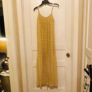 Accordion pleat maxi dress